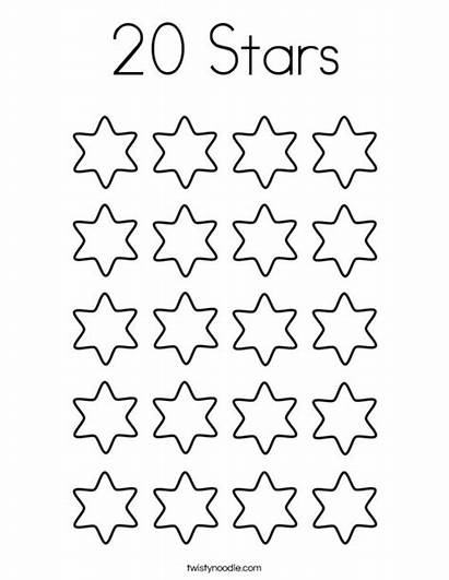 Coloring Stars Count Number Pages Twisty Noodle