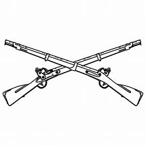 Us army infantry crossed rifles clipart collection