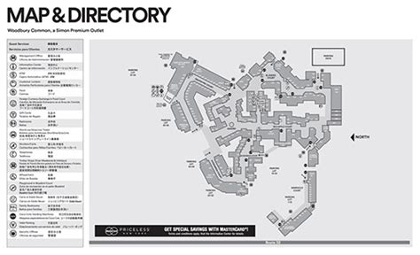 woodbury common premium outlets designer outlet stores map