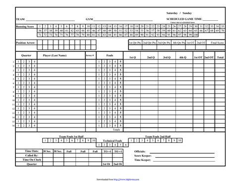 basketball scorebook sheet excel basketball scores
