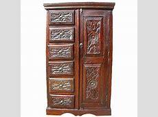 Solid Wood Rustic Armoire Wardrobe Cabinet