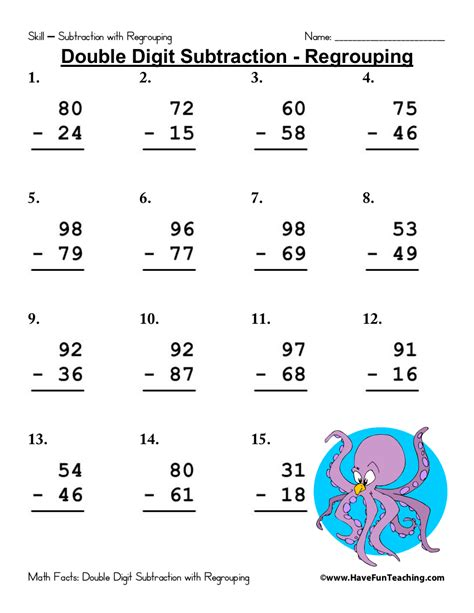 6 subtraction worksheet exles pdf exles