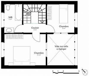 Plan De Construction : plan maison avec 2 chambres et garage ooreka ~ Melissatoandfro.com Idées de Décoration
