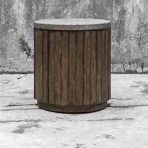 slatted round accent table with hammered metal top With kitchen cabinet trends 2018 combined with metal wall art com coupon code