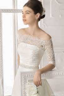 the shoulder wedding dress with lace sleeves aire barcelona 2014 bridal collection lace wedding dresses wedding inspirasi page 3