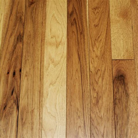 3 1 4 wood flooring wire brushed tanned hickory 3 4 in thick x 3 1 4 in wide x random length solid hardwood
