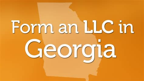 forming  llc  georgia youtube