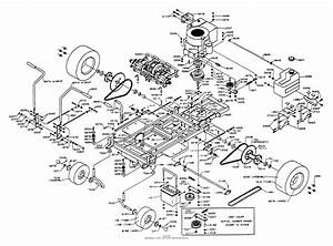Dixon Ztr 428  1993  Parts Diagram For Chassis Assembly