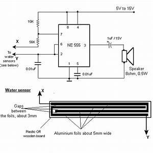 Rain Detector Circuit Using Ne555