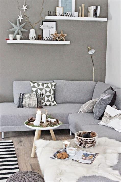 Dekoideen Wohnzimmer Grau
