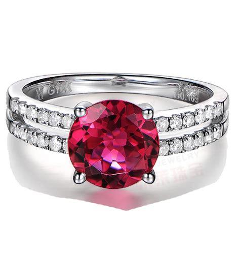 carat ruby  diamond engagement ring  white gold