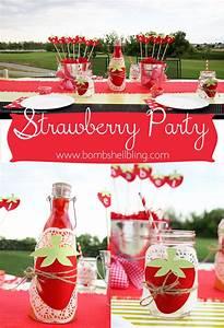 Strawberry Themed Birthday Party