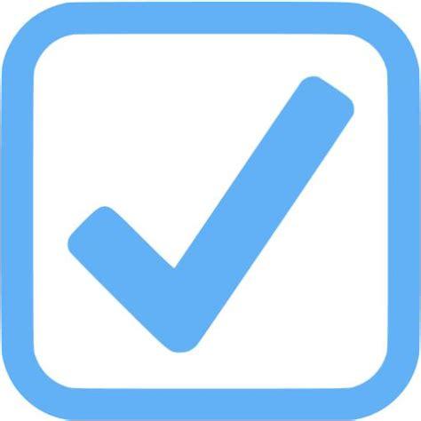 tropical blue checked checkbox icon free tropical blue
