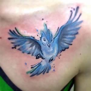 Pretty Bluebird Tattoo Idea