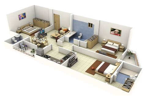bedroom apartmenthouse plans simplicity  abstraction