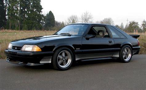 Black 1989 Saleen Ford Mustang Hatchback