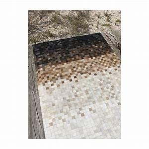 mosaique edge tapis en peaux cuir marron blanc noir With tapis peau de vache avec produit detachant tissu canape
