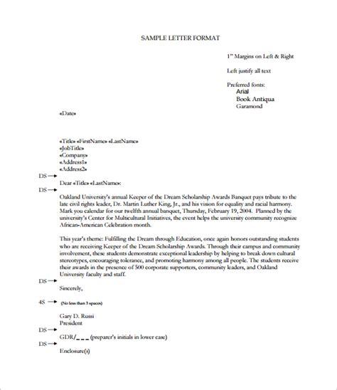 proper format for a business letter 15 proper letter formats sle exle format 6994