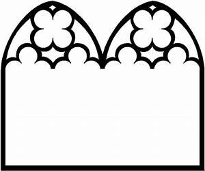 Verziertes Kirchenfenster Ausmalbild Malvorlage Religion