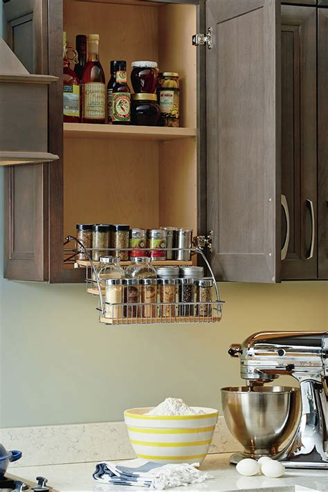 Wire Spice Racks For Cabinets by Pull Spice Rack Homecrest Cabinetry
