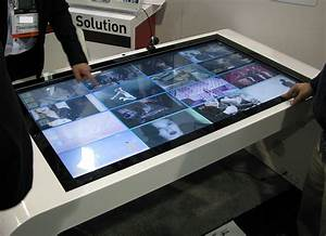 Touch Screen Drawing Tablet Multi Touch Turns Table Into Collaboration Surface Intel