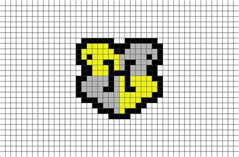 hogwarts hufflepuff house crest pixel art brik