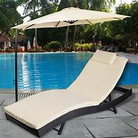 pool deck furniture Adjustable Pool Chaise Lounge Chair Outdoor Patio ...