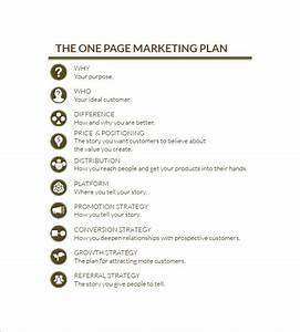 one page marketing plan marketing plan outline With one page sales plan template
