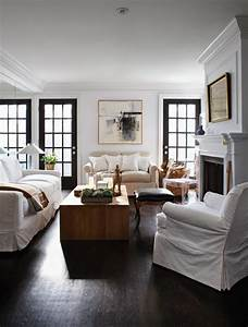 black window frames are so chic the room