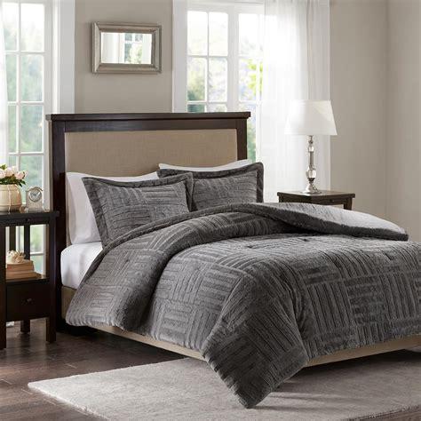 Cal King Alternative Comforter by Park Polar 3 King California King Grey Fur