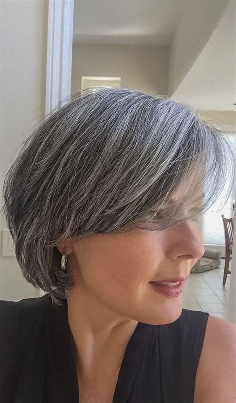 best gray hair styles hairstyles for going gray fade haircut