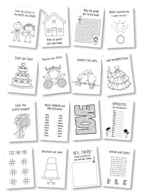 wedding favor for kids kids wedding coloring book kids wedding activities rustic wedding