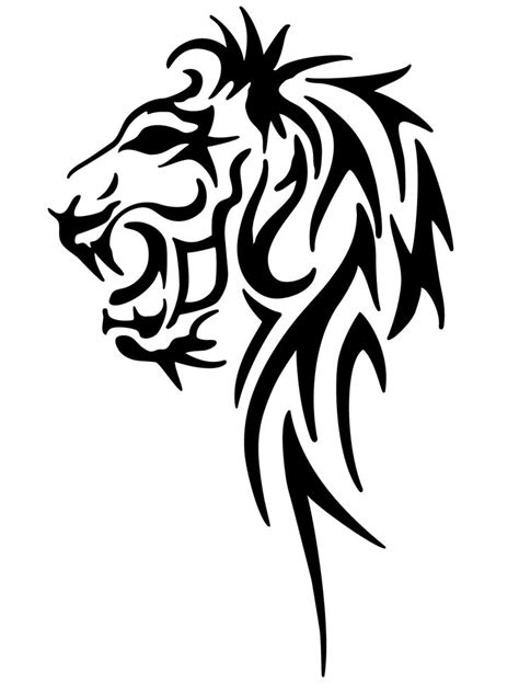 tribal crown tattoo designs   Tribal Lion by pixelworlds
