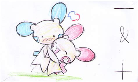 Plusle And Minun Forever By Sceptilepwn On Deviantart