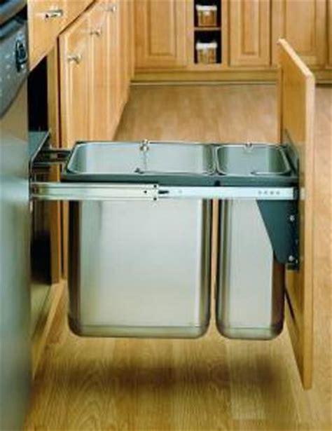 sliding trash can under sink 30 liter ss pull out trash can door mount 8 785 30 dm2ss