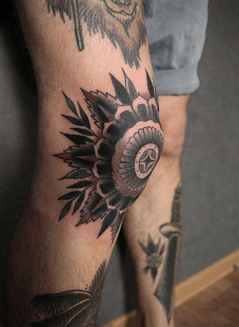 knee tattoo ideas  pinterest bee  flower