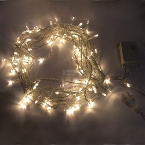 7 99 warm white 10m 8 mode led string lights