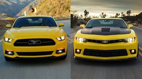 2015 Mustang Vs 2015 Camaro by 2015 Ford Mustang Gt Vs 2015 Chevrolet Camaro Ss The