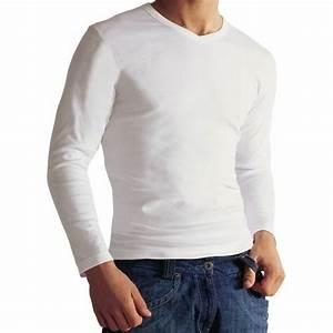 Tee Shirt Homme Manches Longues : lot de 2 tee shirts manches longues col v blanc coton bio rue des hommes ~ Melissatoandfro.com Idées de Décoration