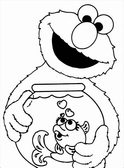 Elmo Coloring Pages Activity Children Dorothy Childrens