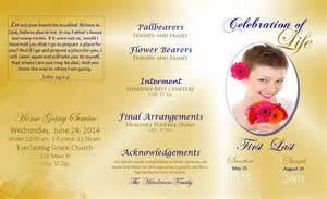 custom funeral programs lifecycleprints celebration of funeral program