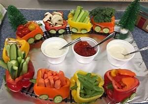 Leuk voor bij de gourmet - groente trein - Leuke Moeders nl