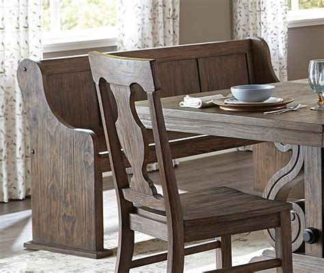 Dining Set: Curved Dining Bench For Sit Comfortably