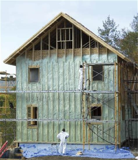 insulating  exterior spray foam jlc