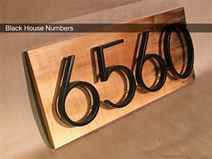 modern black house numbers on salvaged wood With black house letters