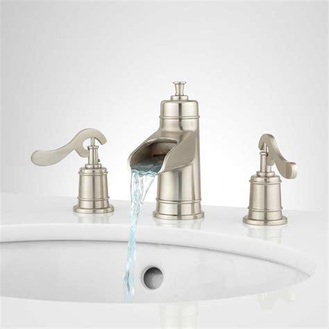widespread bathroom faucet morata widespread waterfall bathroom faucet bathroom