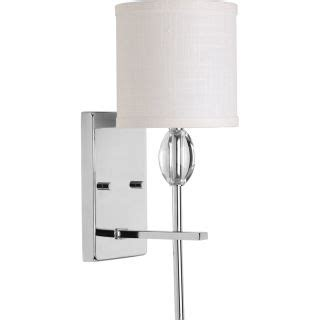 Single Light Bathroom Wall Sconce by Progress Lighting P2060 15 Polished Chrome Status Single