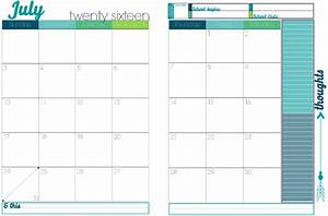 printable 2017 calendars with 2 pages per month calendar With two page monthly calendar template