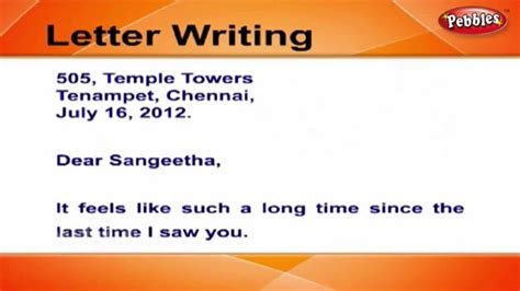 write friendly letters letter writing  english