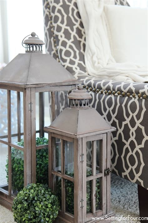 Decorating Ideas With Lanterns by Home Tour Setting For Four